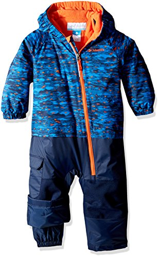 Columbia Kid 's Little Dude trajes–Super Blue Print, talla 3/6