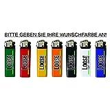 Loose Werbetechnik Reibrad - Feuerzeug in in Vers. Farben mit 4-Farbigen Fotodruck - Werbung - Logo Druck, Feuerzeug Menge:250 Stück