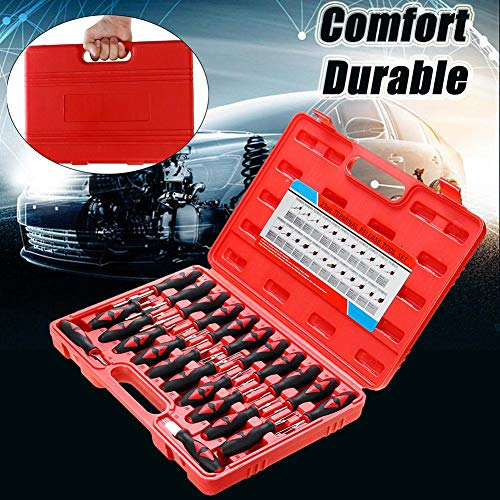 Comaie 23 pcs car Electrical terminal Wiring Crimp Connector pin Remover Tool Set Release Tools Auto dismantle Puller Repair kit - Job-chart