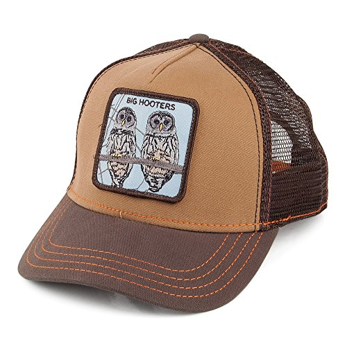 casquette-trucker-hooters-marron-goorin-ajustable