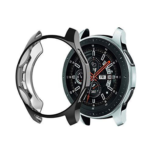 KTcos custodia per Samsung Gear S3 Frontier sm-r760, placcato in morbido TPU [antigraffio] all-around custodia protettiva bumper per Samsung Gear S3 Frontier sm-r760 Smartwatch (nero)