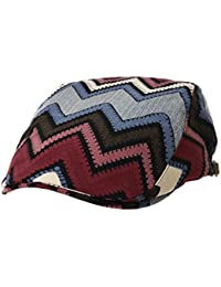 WITHMOONS Sombreros Gorras Boinas Bombines Ivy Cap Geometric Stripe Aztec Tribal Pattern Gatsby Hat LD3904
