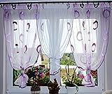 Sehr schöne Fertig Gardine / Gardine / Stores NEU Vorhang / Lila Kreise