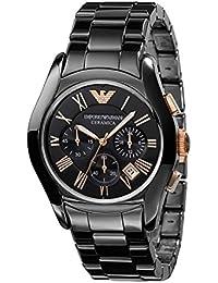 Emporio Armani AR1410 Ceramica Chronograph Black Dial Men's Watch