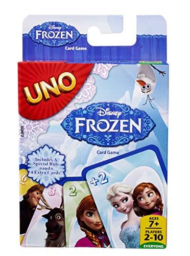 Mattel Games CJM70 UNO Frozen Die Eiskönigin Kartenspiel für Kinder, geeignet für 2 - 4 Spieler, Spieldauer ca. 15 Minuten, ab 7 Jahren -