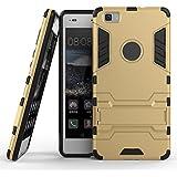 Roreikes Schutzhülle für Huawei P8 Lite, Rüstungs Series Hülle Silikon Stoßfest Case mit Ständer Schutzhülle für Huawei P8 Lite - Gold