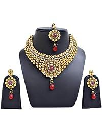 Jewels Cafe Exclusive Designer Daily Wear Party Wear Wedding Wear Office Wear Designer Golden Green Maroon Necklace...