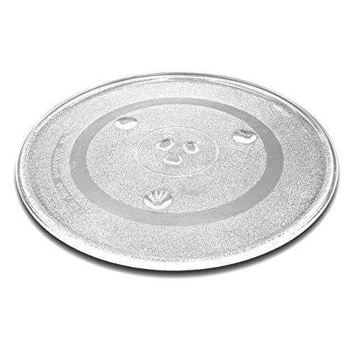 vhbw Plato de microondas de cristal de 31,5 cm con soporte en...