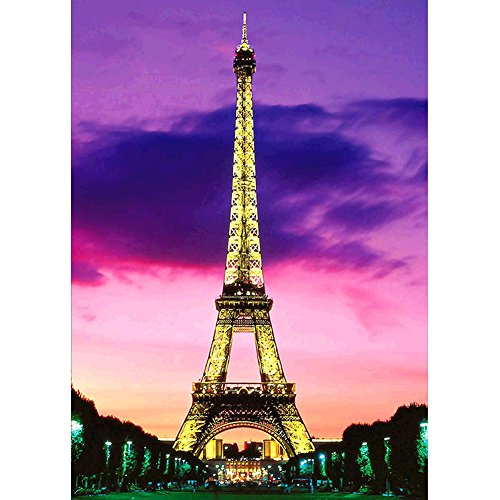 ing, Crystal Rhinestone Diamond Embroidery Paintings Pictures Arts Craft for Home Wall Decor Golden Eiffel Tower 11.8 X 15.7 Inch (Eiffel Tower Home Decor)