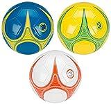 Schreuders Sport Unisexe Avento Warp Skillz Mini Ballon de Football en PVC, Cuir synthétique, Bleu/Jaune/Argent, 3