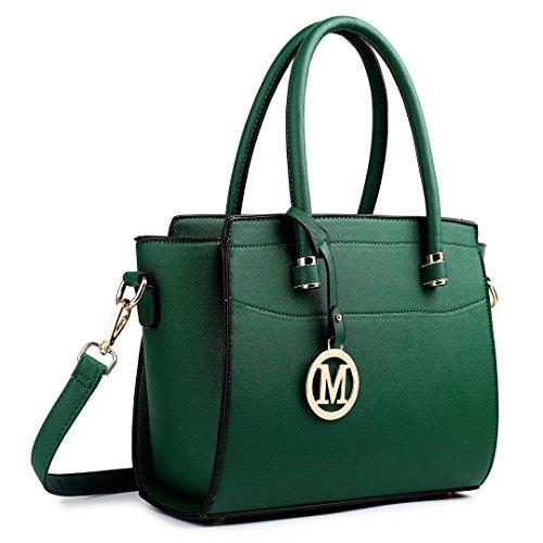 Miss Lulu Damen Klassische Geflügelt Handtasche Winged Schultertasche Klein Taschen 1625 Green