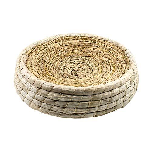 woven pet nest handmade natural woven gras zucht bett box kleintier mat pet heu bett safe pet chew spielzeug fur meerschweinchen papagei kaninchen bunny