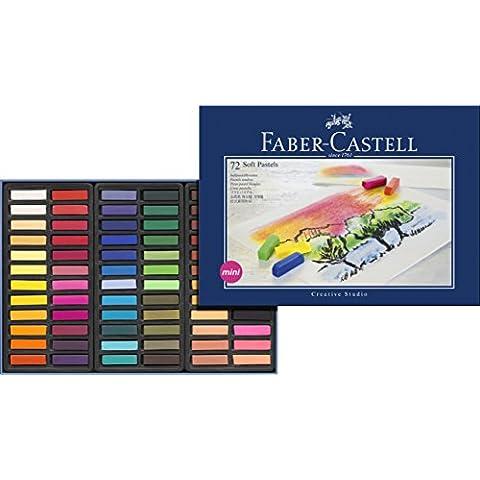 Faber Castell 128272 - Estuche de cartón con 72 tizas, mini, multicolor