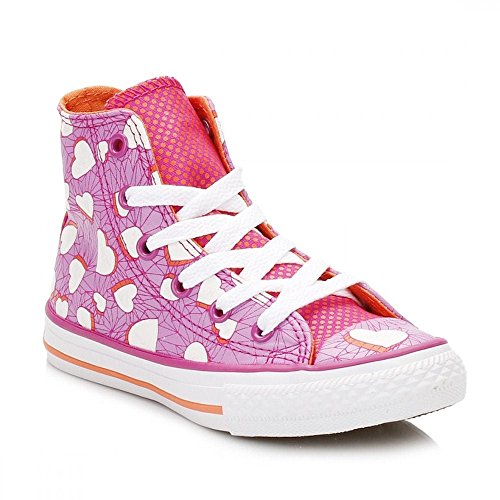 Converse Chucks Kinder 656022C Chuck Taylor All Star Valentines Messages HI Magenta Glow Pink Magenta