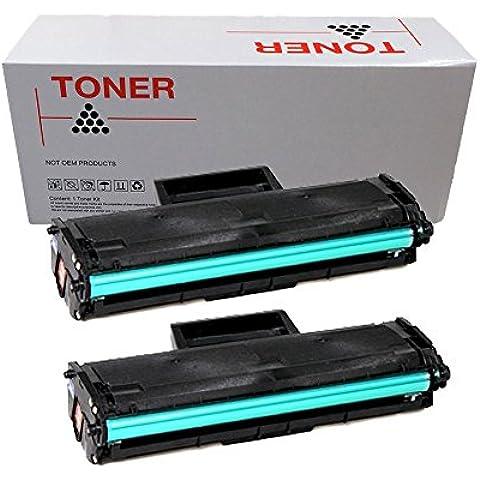 2x Doree MLT-D101S Cartucho de tóner para Samsung ML-2160 ML-2161 ML-2162 ML-2165 ML-2165W ML-2168 SCX-3400 SCX-3400F SCX-3405 SCX-3405F SCX-3405FW SCX-3405W SF SF-760 760P -