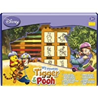 Multiprint Disney My Friends Tigger & Pooh Rubber Stamp Big Box (Set of Seven)