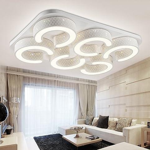 vingo® led 72w warmweiß wand-deckenleuchte wohnzimmer deckenlampe ... - Deckenleuchte Wohnzimmer Design