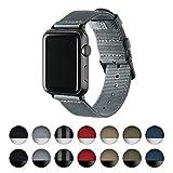 Archer Watch Straps   Premium Cinturino Ricambio di Nylon per Apple Watch   Fibbia e Adattatori in Acciaio Inossidabile e Nero   Cinturino per Uomo e Donna   Grigio/Nero, 42mm