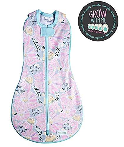 51mNgdkyeeL - Woombie Grow With Me Swaddle - Saco de dormir para recién nacido de 5 etapas a 18 meses de 0 a 18 meses, diseño de flores silvestres