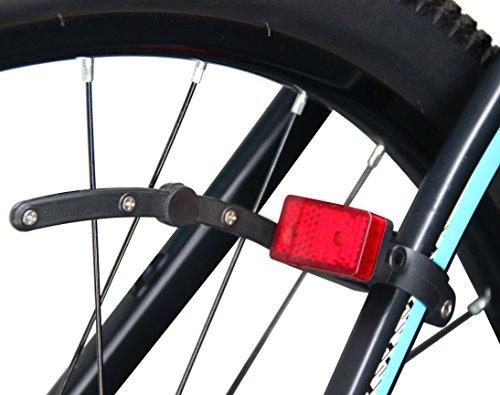 LykusSource dynamobetriebenes Fahrrad Rücklicht mit Kondensator, Batteriefrei, Aufladung unnötig, automatik Ein/ Aus, Blinken beim Stoppen, aktualisierte Installation (2. Generation)