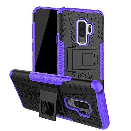 Galaxy S9Plus Fall, S9Plus Fall, Moment dextrad [mit Integriertem Ständer] [Rutschfeste Design] Dual Layer Hybrid Ganzkörper-Rugged [stoßfest] Schutz Cover für Samsung Galaxy S9Plus, Violett (Samsung T-mobile Cell Phones)