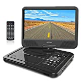 WONNIE 12.5� Portable DVD Player with 10.5 inches 270� Swivel Screen Built-in Rechargeable Battery SD Card and USB, Direct Play in Formats AVI/MP3/JPEG/RMVB (12.5, Black)