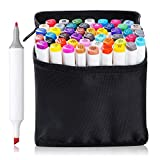 Best Art Markers - 48 Set Color TOUCHNEW Graphic Drawing Painting Alcohol Review