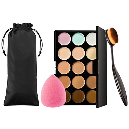 15 Färben Bronze Puder Kontur Palette Set Wasserdicht mit Puderpinsel Puderquaste Gesicht Contour Foundation Make up Beauty