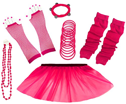 Neon Skirt and Accessories Set - Sizes 8 to 26 - many colours