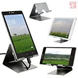 #5: YT Mobile Phone Metal Stand / Holder For Smartphones and Tablet - Antique Silver (Proudly MADE IN INDIA)