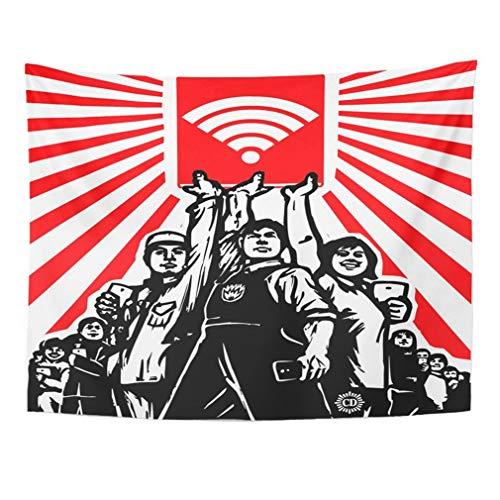 Soefipok Tapisserie Mandala Home Decor Rote Propaganda Digitale Kultur Parodie in der Revolution Führer China Kommunismus für Schlafzimmer Wohnzimmer Schlafsaal