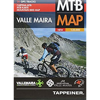 Moutainbike-Karte Valle Maira 1 : 35 000: Cartina Mountainbike Valle Maira [Lingua Inglese]