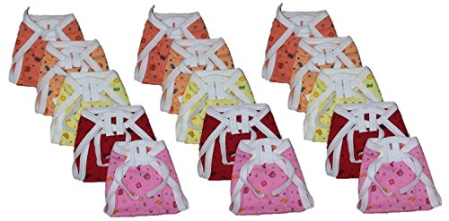 New born Baby Cotton Cloth Nappies (Pack of 15)