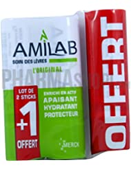 AMILAB LOT 2 STICKS LEVRES + 1 OFFERT