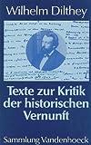 Texte zur Kritik der historischen Vernunft