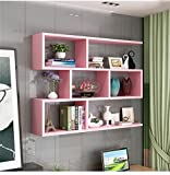 YIN YIN Decorazioni per la casa Mensola a Muro in Legno Rosa per Soggiorno Camera da Letto libreria scaffale Armadio a Muro unità scaffali Decorazioni da Parete Design Stile Moderno Durevole