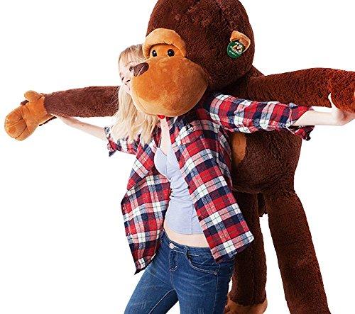 Dis big mouth scimmia super gigante huggable scimmia peluche peluche toy caffè 110 cm