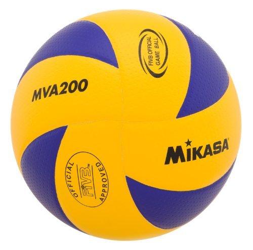 Mikasa MVA200 2016 Rio Olympic Game Ball (Blue/Yellow) by Mikasa Sports