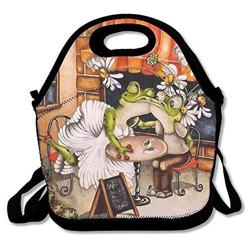 große & dicke Neopren-Lunch-Taschen, isolierte Lunch-Tasche, Kühltasche, warm, mit Schultergurt, für Damen, Teenager, Mädchen, Kinder, Erwachsene ()