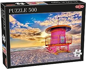Tactic Miami Puzzel 500 pcs Puzzle - Rompecabezas (Puzzle Rompecabezas, Paisaje, Niños y Adultos, Niño/niña, 9 año(s), Holandés)