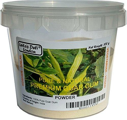 100% Puro en polvo de la Guar Gum prima (1 x 100g) - Media Pot