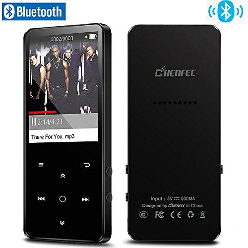 CCHKFEI 16 GB Bluetooth 4.0 MP3 player con schermo a colori 2,4 pollici, metallo lossless lettore musicale con altoparlante, radio FM/registratore vocale, tasto touch supporta fino a 128 GB