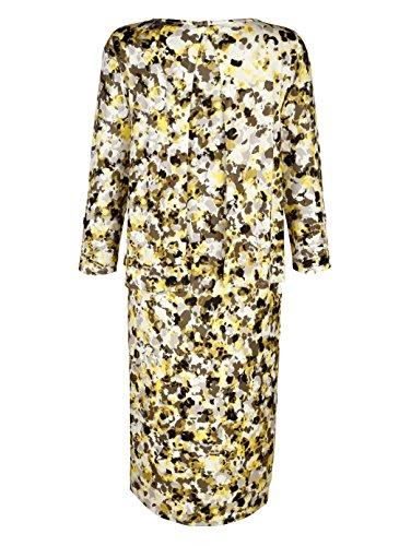Damen Jerseykleid mit kleinen Nieten am Rundhals by Together Gelb/Khaki