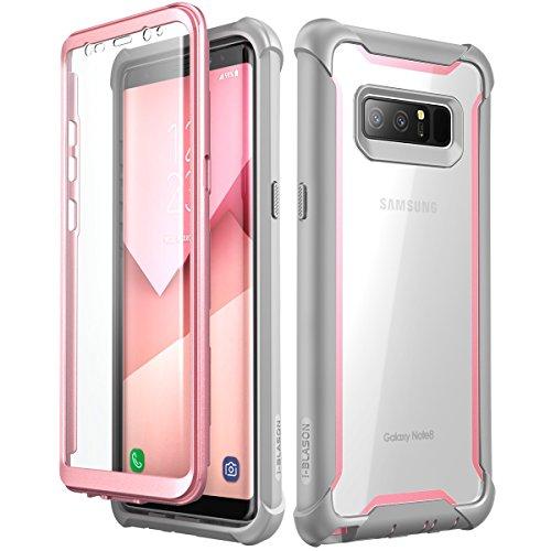 i-Blason Funda Samsung Galaxy Note 8, Ares con Protectores de Pantalla incorporados para Samsung Galaxy Note 8 (2017), Transparente (Rosa)
