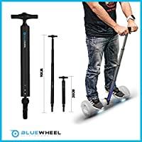 Barra de Soporte Bluewheel H60 para Patinete eléctrico - manija de 38 a 90 cm en Aluminio - Barra de Equilibrio óptima y Segura para Principiantes, manijas para monopatines eléctricos (Negro)