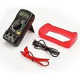 Etekcity® Digitalmultimeter mit LCD-Hintergrundbeleuchtung - Messgerät für Strom, AC / DC-Spannung, Widerstand, Kontinuität, Dioden usw. (Inklusive 9V Batterie und Messleitungen)