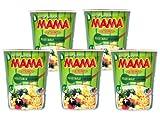 Mama - Cup Asia Nudeln Gemüse Geschmack - 5er Pack (5 x 70g) - Thai Nudelsuppe Fertiggericht