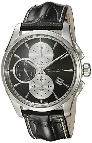 Hamilton Men's 'Jazzmaster' Swiss Automatic Stainless Steel Watch, Color:Silver-Toned (Model: H32596781)