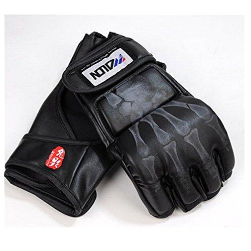 Spesso guanti da sparring MMA Training guanti Guantoni da boxe lotta sabbia sacco guantoni da boxe nero