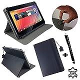Echtleder Tasche für Pearl TOUCHLET X8.quad 7,85 19,94 cm Tablet PC mit Aufstellfunktion - Schwarz Leder 7,85 zoll